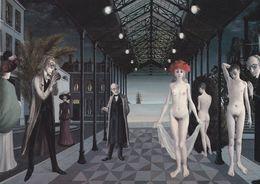 Art - Expo Paul Delvaux, Japan'83~84 - Tribute To Jules Verne, 1971, Paul Delvaux Foundation - Paintings