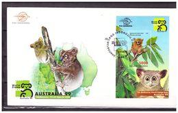 Indonesia 1999 FDC Stamp Exhibition Australia Melbourne Koala S/S - Indonesia