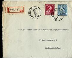Doc. De EKEREN - A 1 A - Du 22/02/51 - En Rec. - Poststempel
