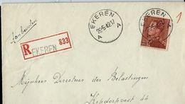 Doc. De EKEREN - A A - Du 26/05/42 Avec N° 531 (Poortman) Seul Sur Lettre  - En Rec. - Postmark Collection