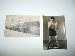 NORD LILLE CPA LA HALLE AUX SUCRES + PHOTO BOXEUR PIERRE LENEGRE DEDICACEE LILLE LE 5.4.1948 - Lille