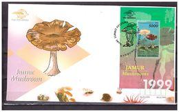 Indonesia 1999 FDC Mushrooms S/S - Indonesia