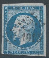 Lot N°55746   N°14A, Oblit PC 4015 Sulina, (Turquie), Ind 38 Ou PC 1015 Cozes, Charente-Inférieure (16), Ind 5 ????????? - 1853-1860 Napoléon III.