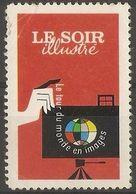 France - Le Soir Publicity Poster Stamp - Commemorative Labels