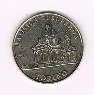 // ITALIA  TORINO - BASEILICA DI SUPERGA - 2003 - Souvenirmunten (elongated Coins)