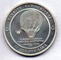 TURKEY, 10.000.000 Lira, Silver, Year 2001 - Turchia