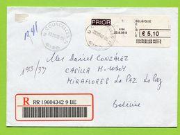 Belgie, Belgien,  2006, Registered To Bolivia - Belgique