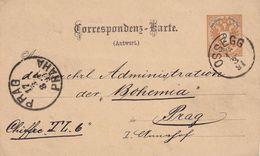 AUTRICHE 1891     ENTIER POSTAL/GANZSACHE/POSTAL STATIONARY CZRTE DE OSSEGG - Ganzsachen