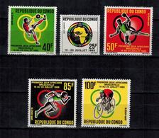 KONGO - Brazzaville , Congo  , 1965 , ** , MNH , Postfrisch , Mi.Nr. 76 - 80 - Congo - Brazzaville
