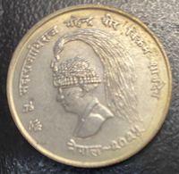 MONEDA DE 10 RUPIAS AÑO 1968 - Nepal