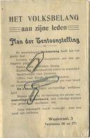 GENT - GAND :  HET VOLKSBELANG Exposition Universelle Et Internationale  1913 ( PLAN Zie Scans ) 72 X 37 Cm - Historische Dokumente