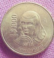 MEXICO: CROWNSIZE 1000 PESOS 1989 KM 536 UNC - Mexico