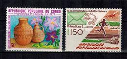 KONGO - Brazzaville , Congo  , 1979 , ** , MNH , Postfrisch , Mi.Nr. 678 - 679 - Congo - Brazzaville