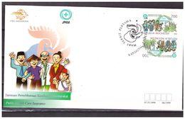 Indonesia 1999 FDC Public Health Care Insurance Tete-Beche - Indonesia