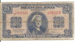 PAYS-BAS 2 1/2 GULDEN 1945 VG+ P 71 - [2] 1815-… : Koninkrijk Der Verenigde Nederlanden