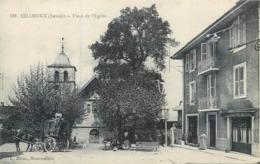 CPA 73 Savoie Chamoux Place De L'Eglise Non Circulée Calèche Postale Postes Café - Chamoux Sur Gelon