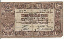 PAYS-BAS 1 GULDEN 1938 VG+ P 61 - [2] 1815-… : Koninkrijk Der Verenigde Nederlanden