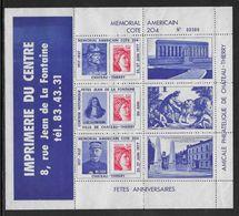 France N°1972 - Sabine De Gandon - Sur Bloc Porte-timbres Mémorial Américain Chateau Thierry 1977 - TB - 1977-81 Sabine De Gandon