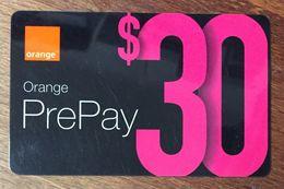 AUSTRALIE ORANGE  RECHARGE GSM 30$ EXP 27/08/2005 PRÉPAYÉE CARTE À CODE PHONECARD CARD PREPAID PLIÉE - Australië