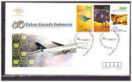 Indonesia 1999 FDC Airplane 50 Year Garuda - Indonesia