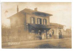 Carte-photo...Berghausen...Bahnhof...gare...animée... - Gaggenau