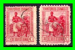 COLONIAS ESPAÑOLAS Y DEPENDENCIAS ( GUINEA TERRITORIOS ESPAÑOLES ) SELLOS AÑO 1931 VALOR 25 Y 30 CENTIMOS DE PESETA - Guinea Española