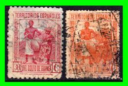 COLONIAS ESPAÑOLAS Y DEPENDENCIAS ( GUINEA TERRITORIOS ESPAÑOLES ) SELLOS AÑO 1931 VALOR 25 Y 50 CENTIMOS DE PESETA - Guinea Española