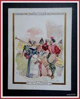 Chromo AU BON MARCHE - VIEUX PARIS EXPOSITION 1900 - LA VIVANDIERE - Robida - Au Bon Marché