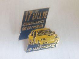 PINS 17 EME RALLYE BETHUNOIS 92 - Rallye