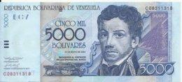 VENEZUELA 5000 BOLIVARES 2004 UNC P 84 C - Venezuela