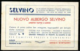 CV3198 SELVINO (Bergamo BG) Cartolina Commerciale Del Nuovo Albergo Di Selvino, FP, Segni Di Scritte A Matita Cancellate - Bergamo
