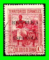 COLONIAS ESPAÑOLAS Y DEPENDENCIAS ( GUINEA TERRITORIOS ESPAÑOLES ) SELLO AÑO 1931 VALOR 25 CENTIMOS DE PESETA - Guinea Española