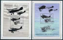 D - [36137]SUP//**/Mnh-BL197/98 - Histoire De L'aviation - Bloc Redwing II Trainer - Blériot - Avions - República Democrática Del Congo (1997 - ...)