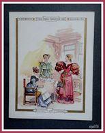 Chromo AU BON MARCHE - VIEUX PARIS EXPOSITION 1900 - BOUTIQUIER - Robida - Au Bon Marché