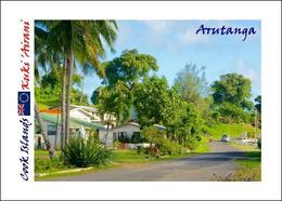 Cook Islands Aitutaki Arutanga New Postcard Cookinseln Flughafen AK - Cookeilanden