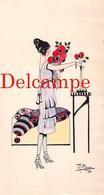Dessin Original : Aquarelle Et Encre - Illustrateur Mika - Années Folles 20s 30s Art Deco - Jolie Femme Mode Stylisme - Watercolours