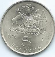 Chile - 1972 - 5 Escudos - KM199 - UNC - Chile