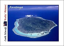 Cook Islands Rarotonga Island Aerial View New Postcard Cookinseln Flughafen AK - Cookeilanden