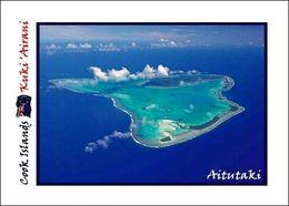 Cook Islands Aitutaki Aerial View New Postcard Cookinseln Flughafen AK - Cookeilanden