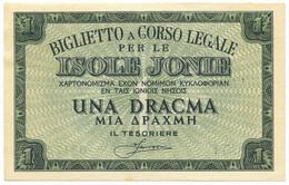 1 DRACMA OCCUPAZIONE ITALIANA DELLA GRECIA ISOLE JONIE APRILE 1942 SUP - [ 3] Emissions Militaires