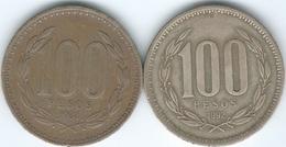 Chile - 1984 - 100 Pesos (KM226.1) & 1992 (KM226.2) - Chile