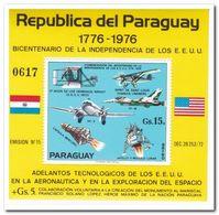 Paraguay 1975, Postfris MNH, Airplane, Space Exploration - Paraguay