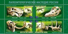 Russia 2020 Set 4 V MNH  Paleontological Heritage Of Russia Fossils - Fossili