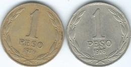 Chile - 1976 - Peso (KM208) & 1979 (KM208a) - Chile