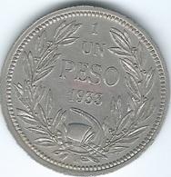 Chile - 1933 So - 1 Peso - KM176.1 - Chile