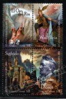 Uruguay 2001 Yvert 1959-62, Music. Opera. 125th Anniv Ring Of The Nibelung, Ring Cycle, Richard Wagner - Block 4 - MNH - Uruguay