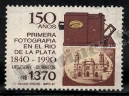 Uruguay 1991 Yvert 1363, Photography. 150th Anniv First Photograph, Camera - MNH - Uruguay