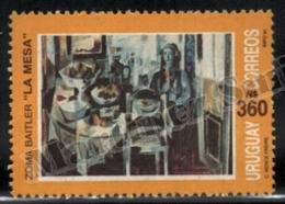 Uruguay 1991 Yvert 1387, Art. La Mesa, Painting By Zoma Baitler - MNH - Uruguay