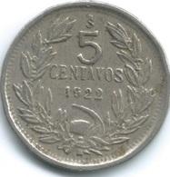 Chile - 1922 So - 5 Centavos - KM165 - Chile