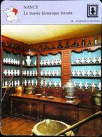NANCY - Musée Historique Lorrain - Photo Meuble Musée De La Pharmacie - FICHE GEOGRAPHIQUE - Ed. Larousse-Laffont - Muebles